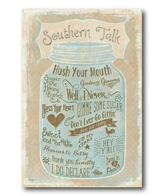 Courtside Market Southern Talk Wrapped Canvas | zulily