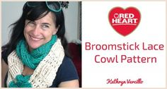 My broomstick lace and tall stitches free #crochet cowl pattern @redheartyarns