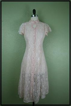 80s pastel pink party dress\ \  lace dress\ \  corset by vtgvintage