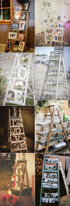 No matter where your wedding will be — outdoors or indoors — this decoration idea will look nice everywhere and your guests will like it. If you want to add vintage chic to your big day, take old ladders or make them older artificially. You can use a ladder as a backdrop for your photoRead more #WeddingIdeasIndoor #outdoorwedding