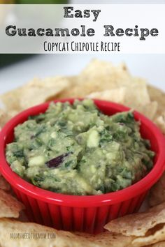 Guacamole is so easy to make and this copycat Chipotle Guacamole recipe is sure to be a hit at your next party!