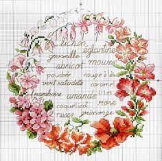 Cosas del corazón lindos: Caja con corona bordada de Veronique Enginger Esquema