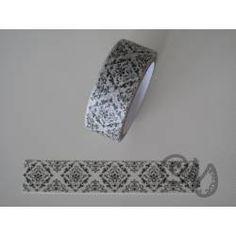 Masking Tape weiss mit schwazem Ornament