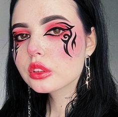 Eyeliner Wing, Eyeliner Looks, No Eyeliner Makeup, Makeup Inspo, Makeup Tips, Punk Makeup, Tomboy Hairstyles, Makeup Looks Tutorial, Creative Eye Makeup