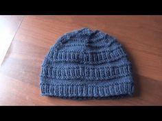 (3) зимняя шапка спицами - YouTube