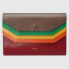 GUCCI GucciTotem leather portfolio - brown leather.  gucci  bags  hand bags    b9671ebd973