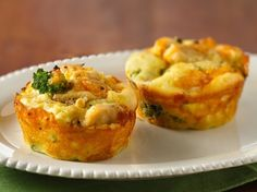 Impossibly Easy Mini Chicken 'n Broccoli Pies - Recipe from Betty Crocker.