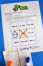 Fourth Grade Multiplication Review Fun: Tic-Tac-Toe Multiplication
