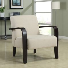 $189 Metro Milkweed Bent Arm Chair | Overstock.com Shopping - Great Deals on Living Room Chairs