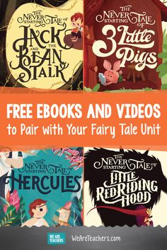 These Free Fairy Tale Storybooks Get Kids Thinking About Being Outdoors. Here are some fun ways fractured fairy tales can help students understand how setting affects characters and their actions. #books #reading #fairytales #teaching #teacher #classroom
