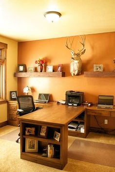 Beautiful 42 Awesome Rustic Home Office Designs  DigsDigs
