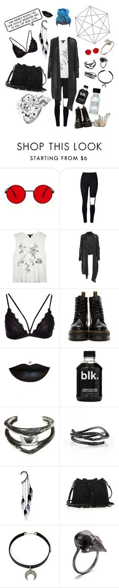 """It's the weekend & I'm not doing sh*t"" by hekatenyx ❤ liked on Polyvore featuring WithChic, Ksubi, Helmut Lang, Dr. Martens, Anastasia Beverly Hills, Unearthen, Michelle Oh, Anni Jürgenson, Rebecca Minkoff and Forever 21"
