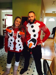 Ideas funny christmas shirts diy ugly sweater party ideas for 2019 Couples Christmas Sweaters, Diy Ugly Christmas Sweater, Tacky Christmas, Ugly Sweater Party, Funny Christmas, Christmas Ideas, Christmas Crafts, Christmas Outfits, Ugly Sweaters For Couples