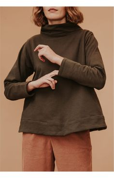 Body Measurements, Hand Warmers, Cotton Fabric, Turtle Neck, Pullover, Sweaters, How To Wear, Fashion, Moda