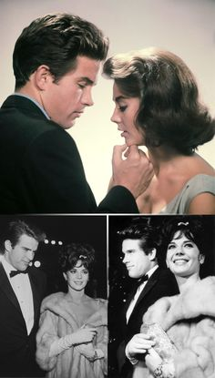 Warren Beatty & Natalie Wood in Splendor in the Grass & at the film's 1961 premiere.