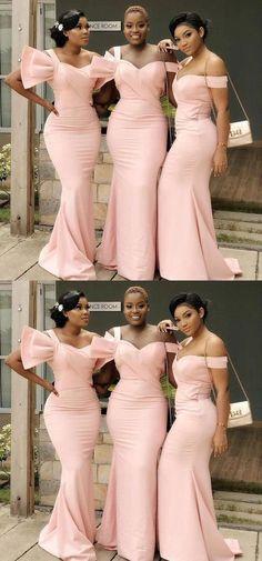 Mismatched Unique Mermaid Cheap Long Cheap Bridesmaid Dresses Online, WG638#bridesmaids #bridesmaiddress #bridesmaiddresses #dressesformaidofhonor #weddingparty #2020bridesmaiddresses