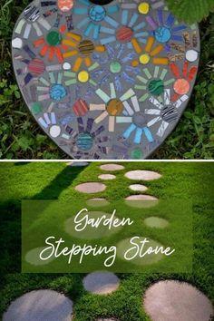 New Garden Stepping Ideas #gardensteppingstone Garden Steps, Easy Garden, Diy Garden Decor, Diy Hanging Planter, Diy Planters, Backyard Putting Green, Garden Stepping Stones, Decorative Bird Houses, Diy Store