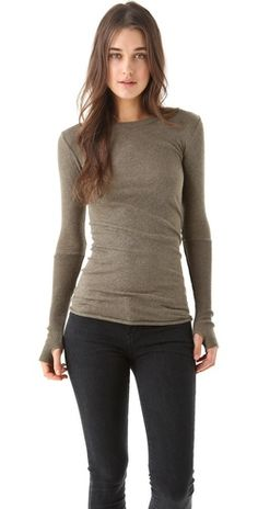 long sleeved crew neck shirts are my thing, the hand detail makes it unique