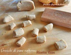 Gnocchi di pane raffermo ricetta base  Blog Profumi Sapori & Fantasia Spatzle, Stale Bread, Romanian Food, Homemade Pasta, Ravioli, Food And Drink, Veggies, Dairy, Cooking Recipes