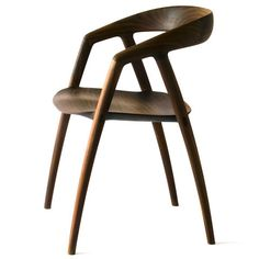 DC09 Dining Chair by Inoda+Sveje.  A sculptural, minimalist Dining Chair with stunning lines and a beautifully undulated seat.  Available at Kozai Modern  $1,550