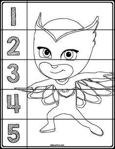 FREE Pj Masks Coloring Number Puzzle! #coloring #pjmasks #preschool #preschoolers #preschoolactivities #kindergarten #Homeschooling #mathcenters
