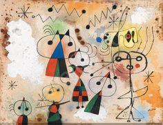 Joan Miro - Femme se Poudrant