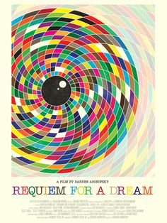 Simon C. Page poster for Requiem for a Dream. Part of the Silver Screen Society poster collection.