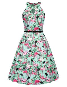 f6865f57326 Flamingo print dress