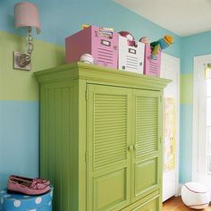 Behind Closed Doors - I could paint the armoire we have to match the new bedroom.  It is great storage!!