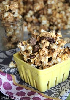 Peanut Butter Cup Popcorn | Cookies & Cups