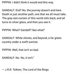 And then into the west plays during this and everybody cries. I Love The Lord, Lord Of The Rings, Just Love, Lotr Quotes, Tolkien Quotes, One Does Not Simply, O Hobbit, Into The West, Movie Lines