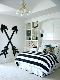 Wooden wall arrows diy teen room decor bedroom, room, girls bedroom f Diy Room Decor For Teens, Cute Bedroom Ideas, Girl Bedroom Designs, Teen Room Decor, Awesome Bedrooms, Room Decor Bedroom, Design Bedroom, Diy Bedroom, Bedroom Themes