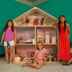 Wayfair My Girls Doll house $299 free shipping Compatible with American Girl, Journey Girl, Our Generation, and any 18'' or smaller doll.
