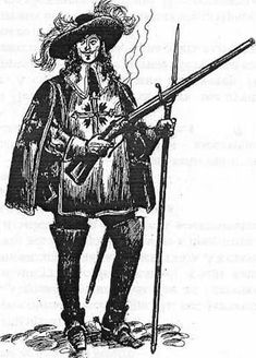 French Musketeer of the Guard, 17th, 18th century