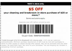 REPIN and LIKE this coupon! Staples Coupons 5 Off
