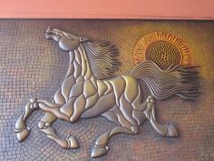 Horse Relief Sculpture Art  by shaire productions, via Flickr