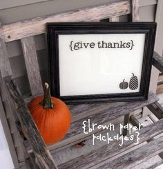 give thanks dry-erase frame