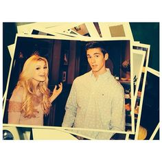 Cool picture of Austin North and Olivia Holt.