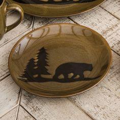 Bear Lodge Stoneware Salad Plate