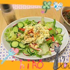 意外と知られてないことを知りUPして紹介することに。 コーンとオクラをマヨネーズであえ、がりがりっと黒胡椒すればそれはもう美味!! サラダの真ん中にどどーんと置けばドレッシングがなくても食べられます - 19件のもぐもぐ - 夏のサラダ!コーンとオクラの・マヨ和えねばねばどどーんとサラダ by hiromiyamaL7T