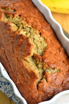 Soft, moist, and super easy banana bread made with tropical flavor addition of coconut. This delicious bread makes a great snack. (Add abt C toffee bits) Coconut Bread Recipe, Coconut Banana Bread, Coconut Flour Bread, Easy Banana Bread, Baked Banana, Banana Bread Recipes, Loaf Recipes, Dessert Bread, Breakfast Dessert