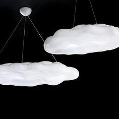 Solar powered cloud lights