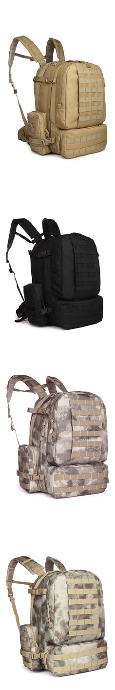 Day Packs 87122: 60L Outdoor Military Molle Assault Tactical Backpack Sport Camping Hiking Bag BUY IT NOW ONLY: $44.99