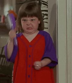 Trending GIF reaction angry reactions mad hate anger pissed off bitter enraged classic reaction hairbrush livid hostile look whos talking now brush girl angry girl shaking a hairbrush 화 Angry Little Girls, Angry Girl, Gif Angry, Angry Meme, Angry Angry, Angry Baby, Angry Look, Mood Gif, Look Who's Talking