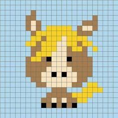 super Ideas for crochet animals horse cross stitch Crochet Diagram, Crochet Chart, Crochet Patterns, Cross Stitch Designs, Cross Stitch Patterns, Cross Stitching, Cross Stitch Embroidery, Manta Animal, Modele Pixel Art