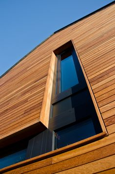 Wonderful Techniclic cladding in Iroko wood