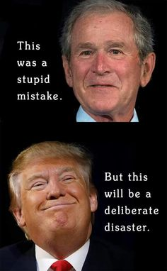 Bush had a KIND degrees different from Trump. Bush was never rude nor insulting to people. Trump is HEARTLESS. Satire, Caricatures, And So It Begins, Thing 1, Political Views, Republican Party, Humor, That Way, In This World