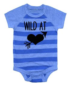 Loving this Blue 'Wild At Heart' Bodysuit - Infant on #zulily! #zulilyfinds