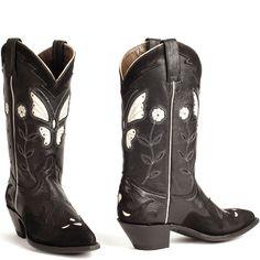 Zwarte cowboylaars Butterfly New Black (Woman)