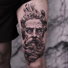 tattoo zeus realismo * tattoo zeus & tattoo zeus mythology & tattoo zeus preto e cinza & tattoo zeus poseidon & tattoo zeus greek gods & tattoo zeus design & tattoo zeus realismo & tattoo zeus braço Zeus Tattoo, Statue Tattoo, God Tattoos, Body Art Tattoos, Tattoos For Guys, Tattoo Model Female, Tattoo Models, Diy Tattoo, Posiden Tattoo